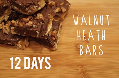 Walnut heath bars