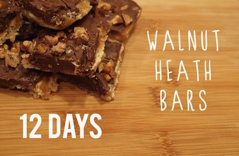 Walnut heath bars